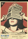 Know Tommorrow Brown University Poster by Shephard Fairey and RISD Archives