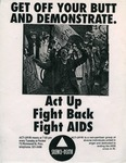 ACT-UP/RI Fight AIDS Poster by ACT-UP/RI and RISD Archives