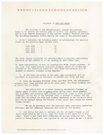 Administration Response to Position Paper May 1,1970 by Talbot Rantoul and RISD Archives