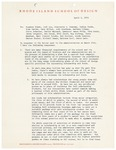 President Rantoul Response to Coalition of Minority Students, Concerned Students, and Concerned Professional Staff Position Paper April 2,1970 by Talbot Rantoul and RISD Archives