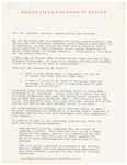 President Rantoul Statement Regarding Failed Negotiations with the Coalition of Minority Students, Concerned Students, and Concerned Professional Staff April 1970 by Talbot Rantoul and RISD Archives