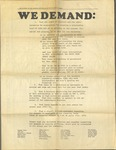 """We Demand,"" RISD Paper, March 23, 1970 by Students of RISD and RISD Archives"