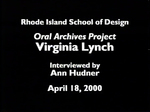 Oral History Interview with Virgina Lynch, April 18, 2000 by Virgina Lynch, Ann Hudner, Archives, and Frank Muhly