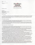 Letter from Providence School District Superintendent by Melody Johnson, Teaching + Learning in Art + Design Department, and Project Open Door