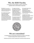 RISD Faculty Values Statement by Rhode Island School of Design