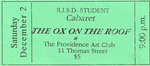 The Ox on the Roof Ticket, Green