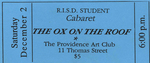 The Ox on the Roof Ticket, Blue