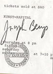 The Life and Times of Joseph Beuys Ticket (Front)