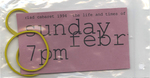 The Life and Times of Joseph Beuys Ticket, Elastic Band (Front)