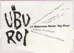 Ubu Roi Ticket (Back)