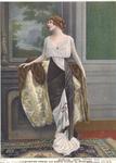 Evening Dress and Sable Cloak