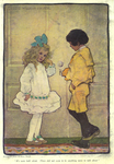 """""""We were both silent. There did not seem to be anything more to talk about"""" from """"In the Closed Room"""" by F.H. Burnett by Fleet Library, Visual + Material Resources, and Jessie Willcox Smith"""