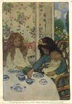 """""""The playing to-day was even a lovelier, happier thing than it had ever been before"""" from """"In the Closed Room"""" by F.H. Burnett by Fleet Library, Visual + Material Resources, and Jessie Willcox Smith"""