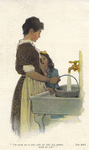 """""""I'm going up to play with the little girl, mother,...You don't mind, do you?"""" from """"In the Closed Room"""" by F. H. Burnett by Fleet Library, Visual + Material Resources, and Jessie Willcox Smith"""