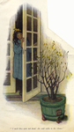 """""""'I wish they were not dead,' she said softly to the silence"""" from """"In the Closed Room"""" by F. H. Burnett by Fleet Library, Visual + Material Resources, and Jessie Willcox Smith"""