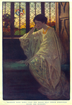 """""""Madelon sank down upon the broad seat which stretches below the windows"""", from """"Night, and the Curtains Drawn"""" by Justus Miles Forman by Fleet Library, Visual + Material Resources, and Jessie Willcox Smith"""
