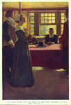 """""""The Lord hath sent me here to die like Stephen at the feet of Saul"""", from """"The Hanging of Mary Dyer"""" by Basil King by Fleet Library, Visual + Material Resources, and Howard Pyle"""