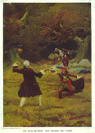 """The Duel between John Bulmer and Cazaio, from """"In the Second April"""" by James Branch Cabell by Fleet Library, Visual + Material Resources, and Howard Pyle"""