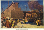 The dry-dock Dewey aground in the Suez Canal by William James Aylward