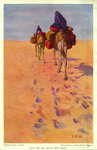 """Over the Old Route into Egypt, illustration for """"Riding Down to Egypt"""" by Norman Duncan"""