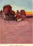 """Wells are at Merciful Intervals, illustration for """"Riding Down to Egypt"""" by Norman Duncan"""