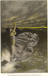 """""""Through the night she calls to men, luring them down to their death."""" from """"Phoebus on Halzaphron"""" by A.T. Quiller-Couch"""