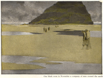 """""""One black noon in November a company of men crossed the sands."""" from """"Phoebus on Halzaphron"""" by A.T. Quiller-Couch"""