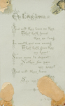 A blessed New Year (verso) by Sir Thomas Wyatt
