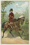 Untitled (Lady riding sidesaddle) by John Henry Bufford