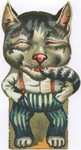 Untitled (Big-headed cat)