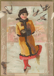 Untitled (Victorian Lady ice skating)