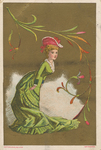 Untitled (Lady in green dress) by Ketterlinus Publishing Company, Philadelphia