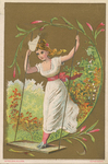 Untitled (Lady Standing on Swing) by Ketterlinus Publishing Company, Philadelphia