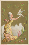 Untitled (Lady with White Cockatoo) by Ketterlinus Publishing Company, Philadelphia