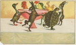 Untitled (animals dancing around soup tureen)