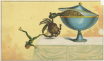 Untitled (Turtle in soup tureen with crab and frog)