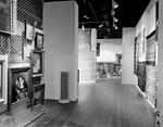 Gallery with Paintings, Sculptures, and Indian Blankets by Robert O. Thornton, RISD Museum Photographer