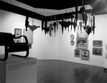 Hanging Parasols and Umbrellas with Paintings by Robert O. Thornton, RISD Museum Photographer