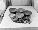 American Indian Baskets in Storage