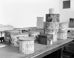 American Bandboxes and Hat Boxes in Storage by Robert O. Thornton, RISD Museum Photographer