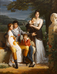 Portrait of Antoine-Georges-Francois de Chabaud-Latour and His Family