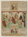 Biblia Papuperum: The Flight into Egypt with Jacob fleeing Esau and David fleeing Saul