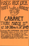 RISD's First Ever Hot House Cabaret, Thurs. March 11th at 10:30 pm in the Tap Room