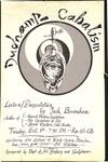 Duchamp Cabalism: Lecture/Presentation by Jack Burnham