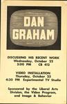 Dan Graham: Discussing His Recent Work