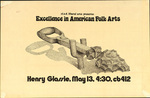 RISD Liberal Art presents: Excellence in American Folk Arts: Henry Glassie