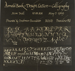 Arnold Bank - Design Lecture - Calligraphy