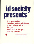 id society presents: I. Bruce Archer, Head of Industrial Design, Royal College of Art, London