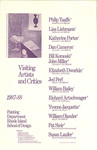 Visiting Artists and Critics 1987-1988: Painting Department, Rhode Island School of Design / Mike Swenson