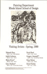 Painting Department, Rhode Island School of Design: Visiting Artists - Spring 1990